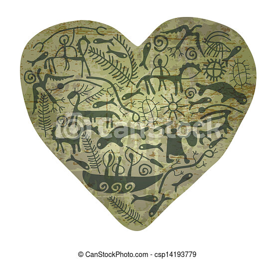 coração, shamanic - csp14193779