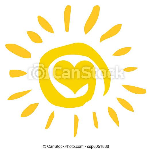 coração, sol, abstratos - csp6051888