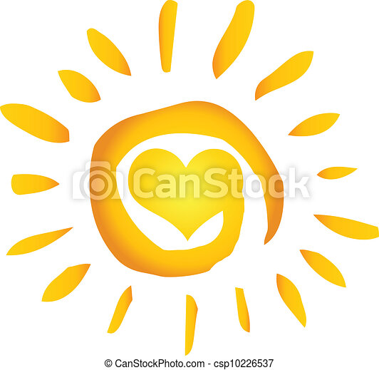 coração, sol, quentes, abstratos, verão - csp10226537