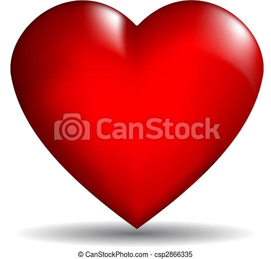coração, vetorial, 3d - csp2866335