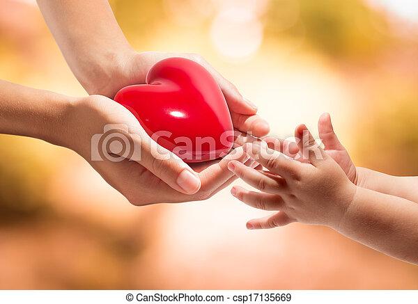 coração, vida, -, seu, mãos - csp17135669