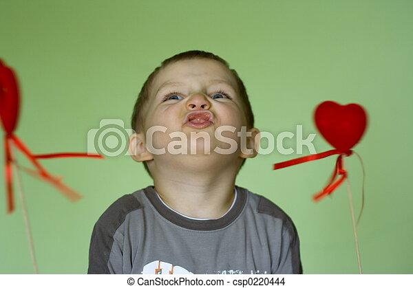 corações, feliz - csp0220444