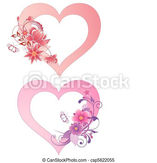 corações, flores - csp5622055