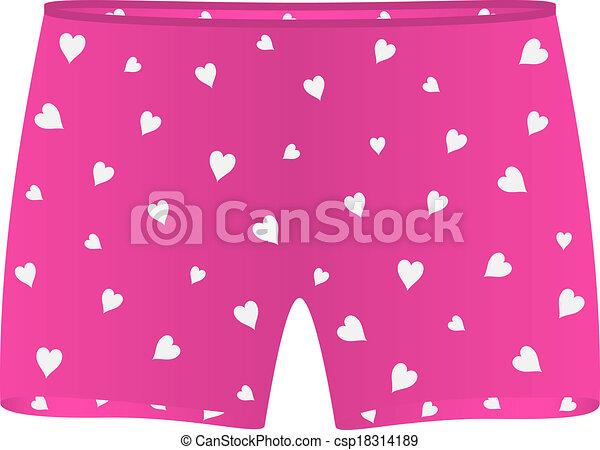 corações, pugilista, mens, branca, shorts - csp18314189