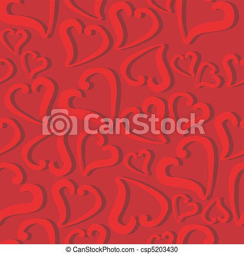 corações, seamless, fundo - csp5203430