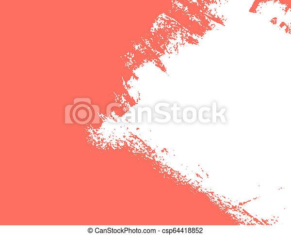Corail Vivant Couleur Peinture Coup 2019 Annee Corail Vivant Couleur Peinture Coup 2019 Brosse Annee Canstock