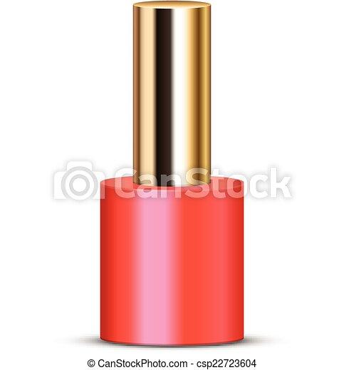 vector illustration of coral nail polish vector clipart search rh canstockphoto com nail polish clipart free Fingernail Clip Art Free