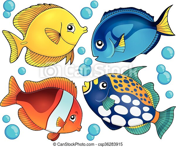 Coral Reef Fish Drawing