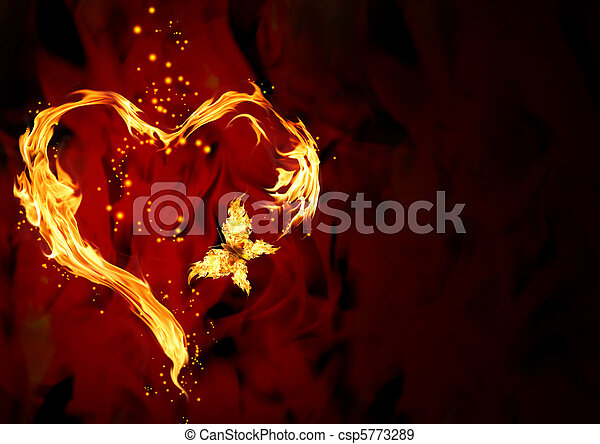 corazón, abrasador - csp5773289