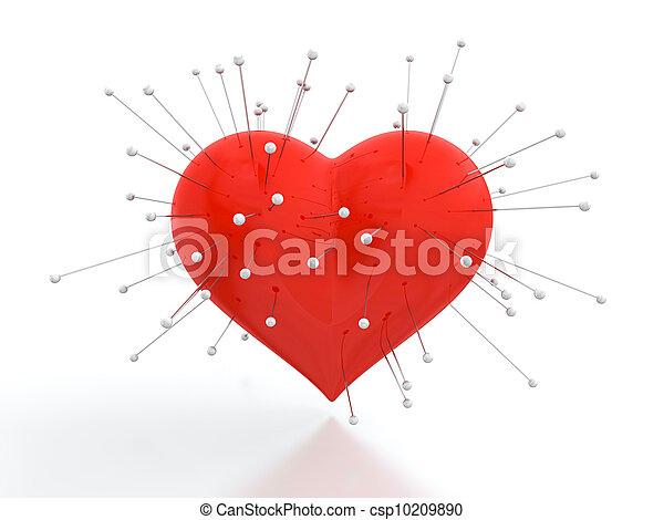 corazón, agujas - csp10209890