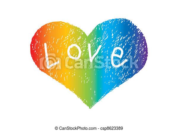 Corazón con amor - csp8623389