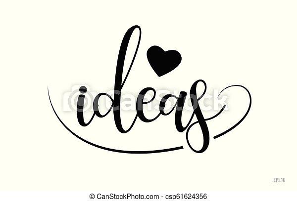 Ideas de texto de tipografía con corazón de amor - csp61624356