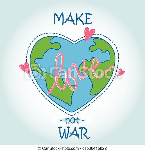 El mundo del corazón, el amor - csp36415822