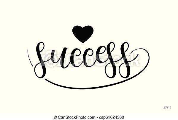 Texto de éxito con corazón de amor - csp61624360