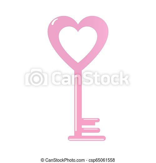 Amor corazón clave feliz San Valentín - csp65061558