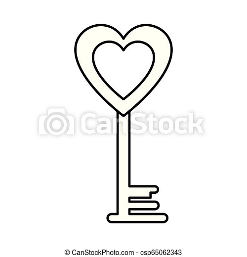 Amor corazón clave feliz San Valentín - csp65062343
