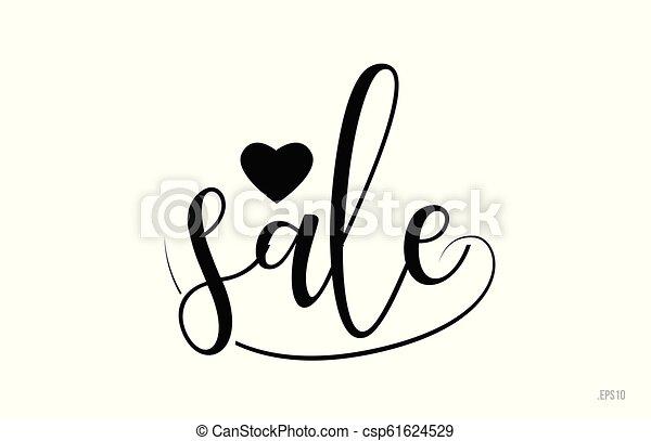 Texto de la venta con corazón de amor - csp61624529