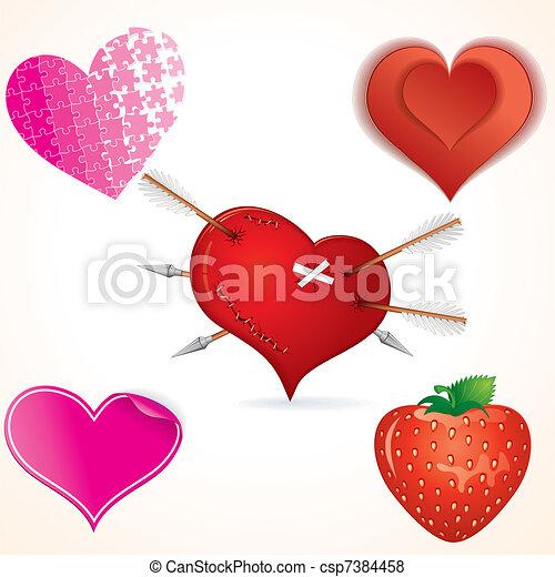 Arte de clip para el corazón - csp7384458