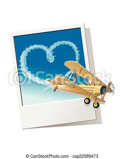 El corazón del avión - csp22589473