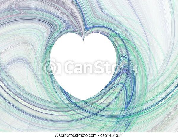 Corazón azul - csp1461351