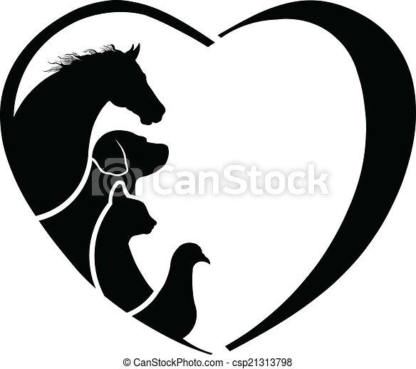 El amor de un caballo veterinario. Abstracción de cuidado animal - csp21313798