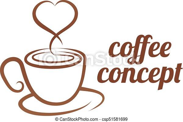 El concepto del corazón de Copa Coffe - csp51581699