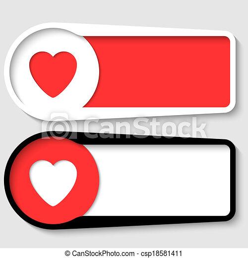Dos cajas para cualquier mensaje de corazón - csp18581411