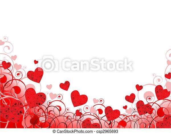 Enmarcado en rojo con remolinos y copiopacio - csp2965693