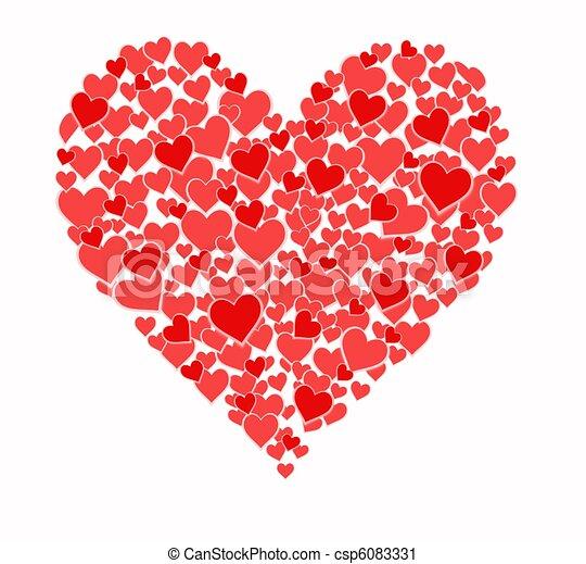 Corazón Corazones Corazón Hecho Más Pequeño Corazones
