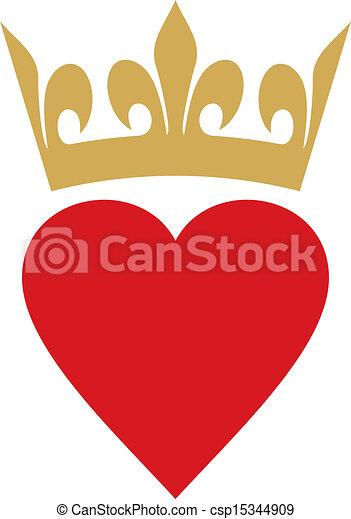 corazón, corona - csp15344909