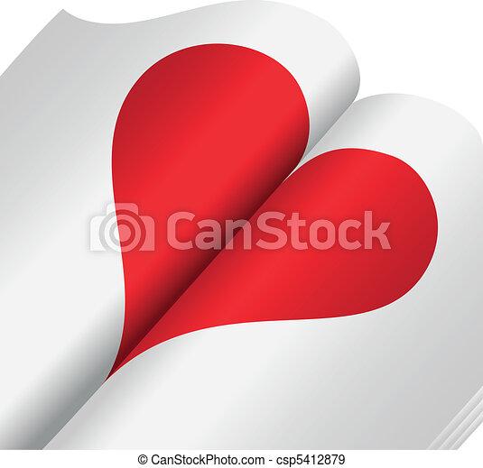Corazón en un cuaderno - csp5412879