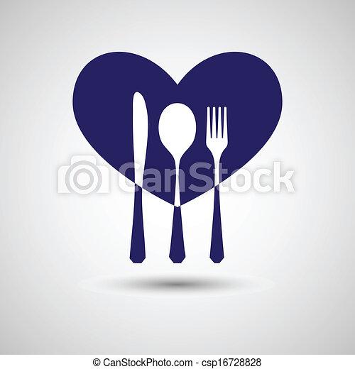 Un cubierto de corazón - csp16728828