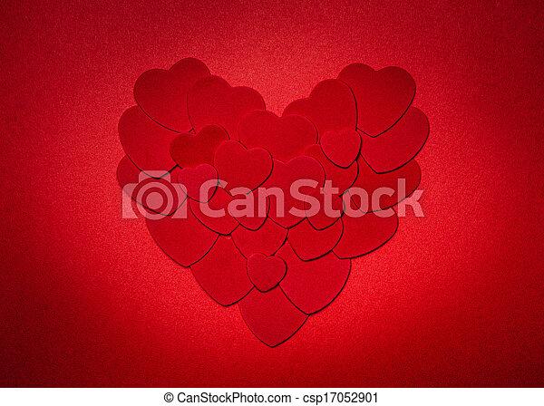corazón, día de valentines, rojo - csp17052901