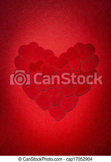 corazón, día de valentines, rojo - csp17052904