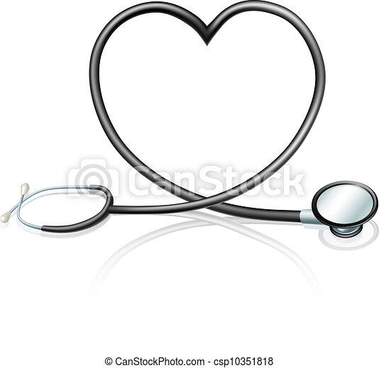 Concepto cardíaco estetoscopio - csp10351818