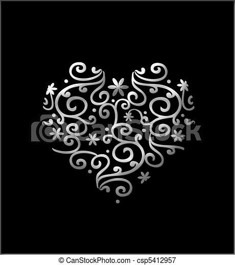 Corazón filigrado - csp5412957