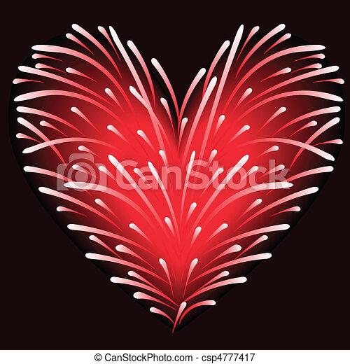 Fuegos artificiales del corazón - csp4777417
