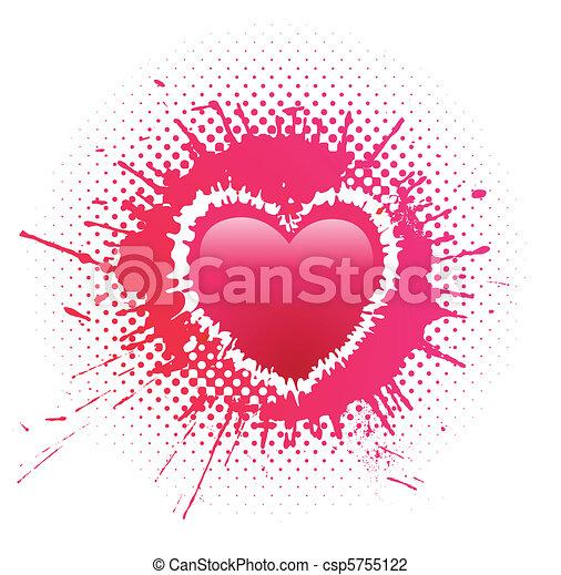 Corazón en un punto grunge - csp5755122