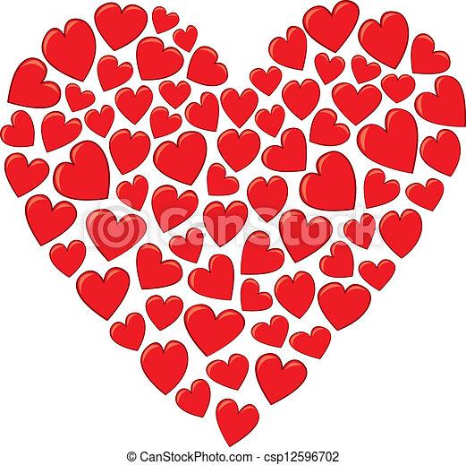 Corazón Hecho Corazones Más Pequeño Heart Formación