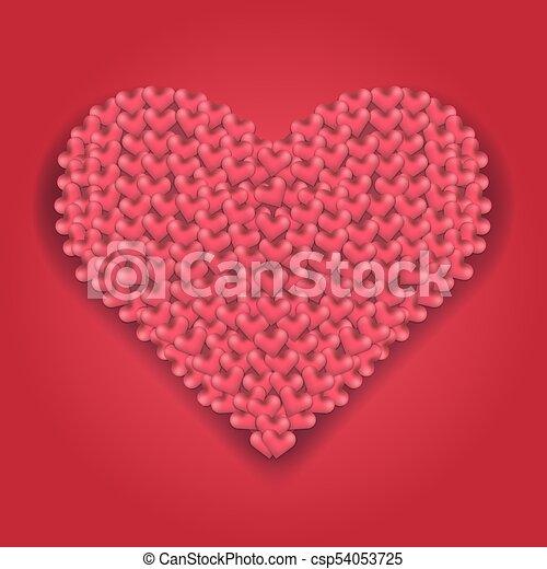Corazón Hecho Grande Corazones Sombra Rojo Corazón Amor
