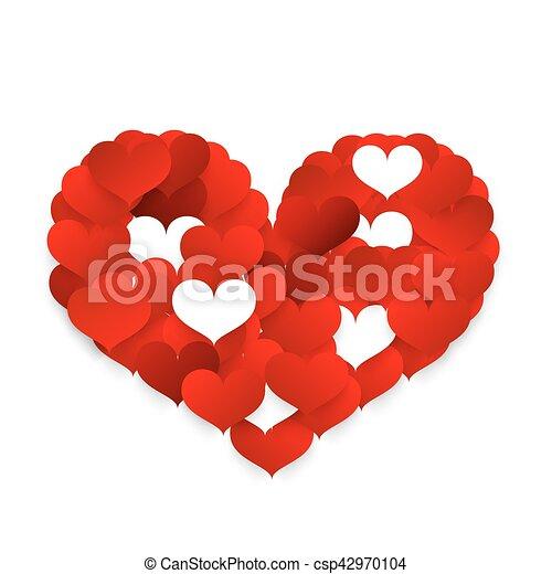 Corazón Hecho Símbolo Pequeño Corazones Icon Rojo Corazón
