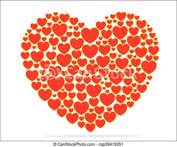 Corazón Hecho Valentine Papel Pequeño Corazones Día Tarjeta