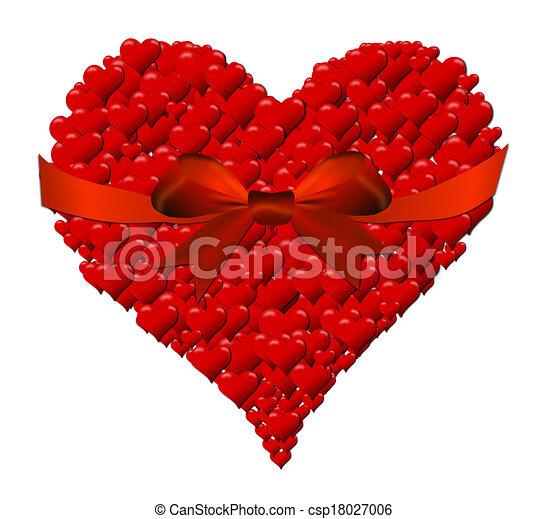 Corazón Hecho Valentino Arco Corazones Día Rojo