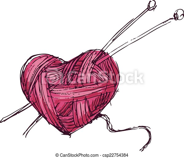 corazón, hilo - csp22754384