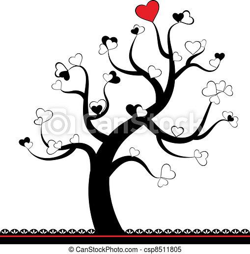 Corazón Hoja Amor árbol Valentine árbol Hearts Hoja Amor