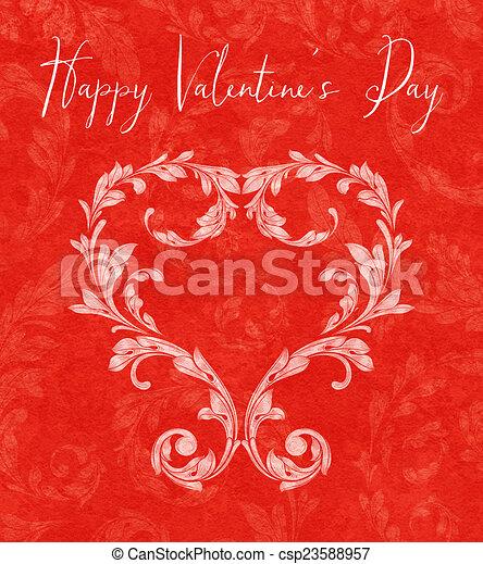 Corazón de San Valentín de hojas de Laurel - csp23588957