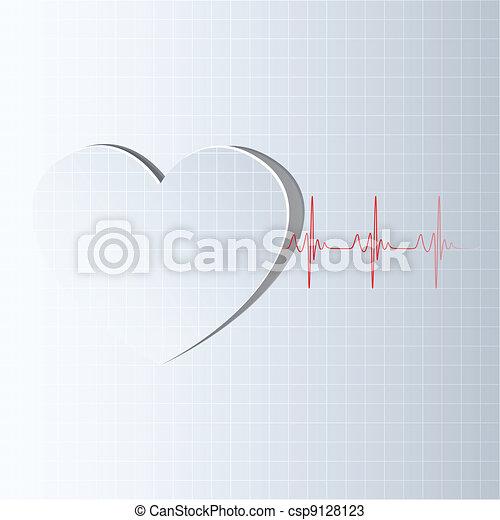La línea de la vida viene del corazón - csp9128123