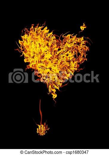 Corazón ardiente - csp1680347