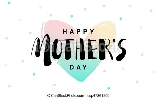 corazón madres letras fondo día feliz corazón illustration