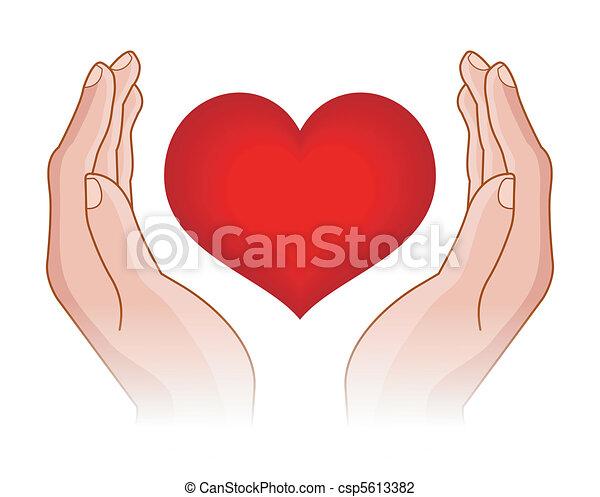 Corazón en manos - csp5613382